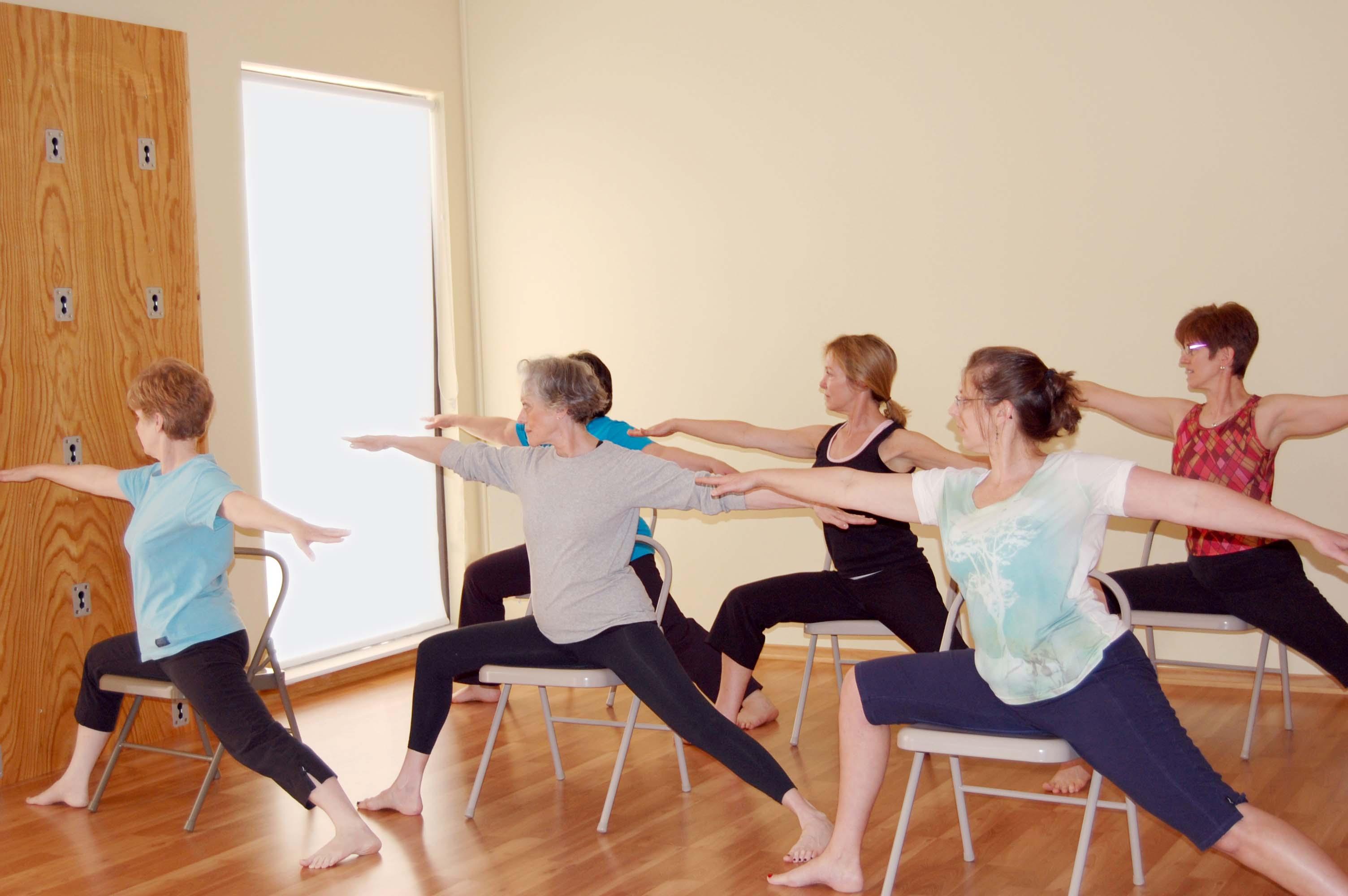 What is chair yoga my yoga scene atlanta ga for Chair yoga benefits
