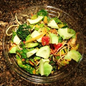 Avocado Maitake Salad