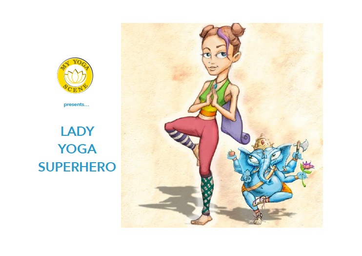 Lady Yoga Superhero