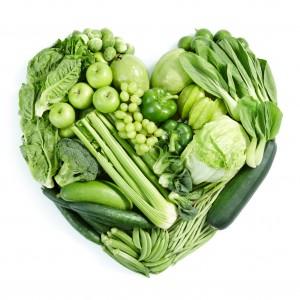 green veggie heart