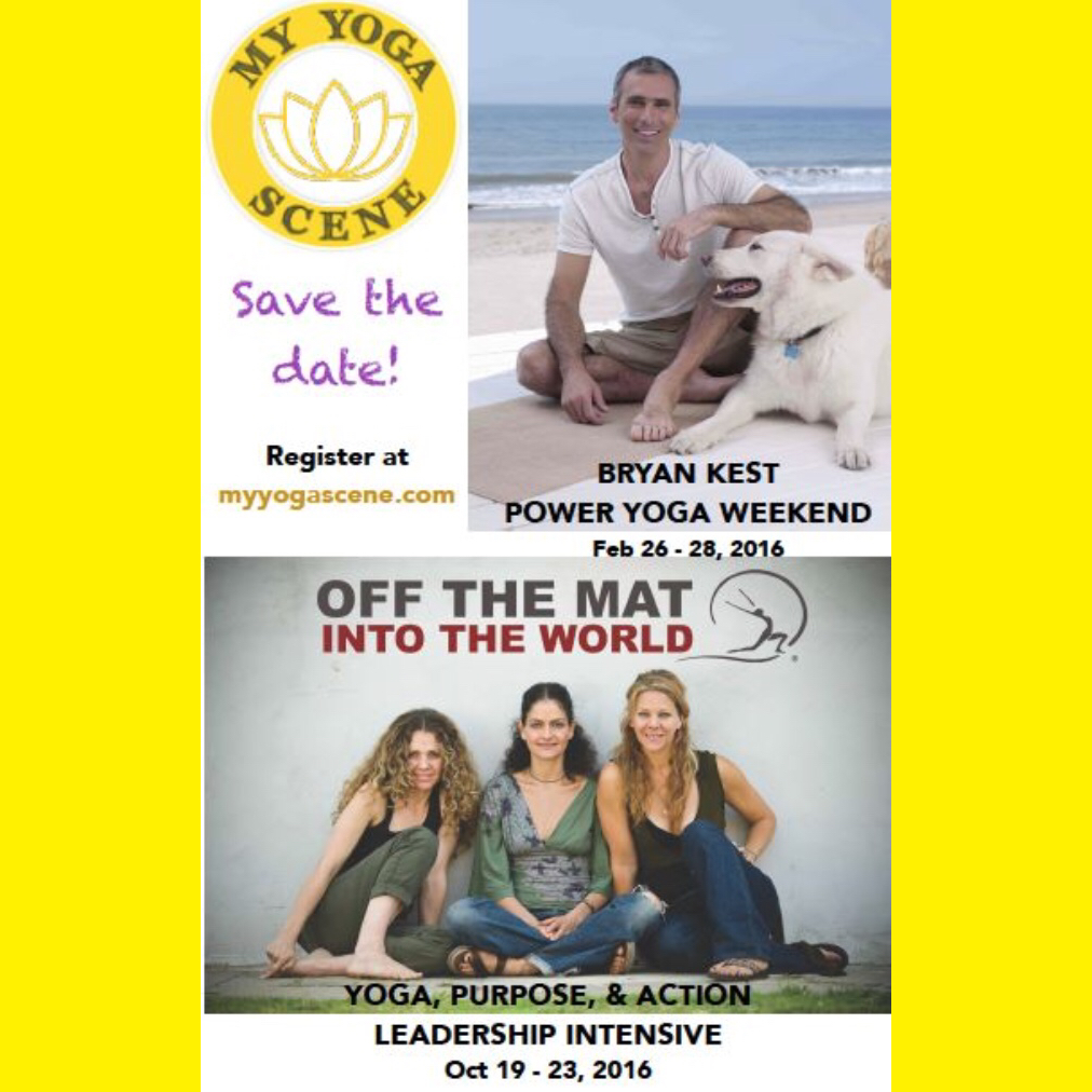 Save The Date! Bryan Kest & Off The Mat Into The World in Atlanta 2016!