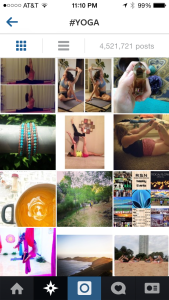 Instagram #yoga