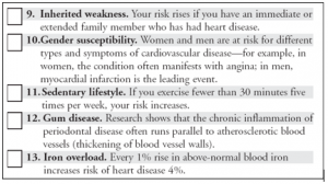 Heart Attack Risk Factors