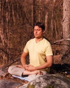 vishwa meditating outside
